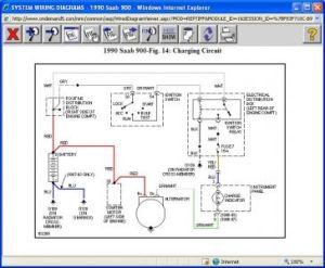 1990 Saab 900 Alternator Wiring: Electrical Problem 1990