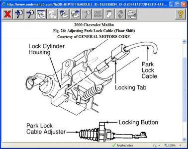 2009 cobalt fuse box diagram 24v wiring 2000 chevy malibu key stuck in ignition on my the http www 2carpros com forum automotive pictures 416332 park lock cable 1