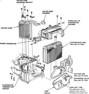 1997 Acura CL 1997 Acura CL Heater Core: Heater Core Broke