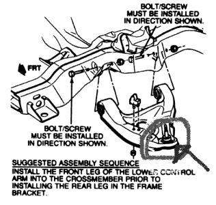 1998 GMC Sonoma Lower Control Arm: Suspension Problem 1998