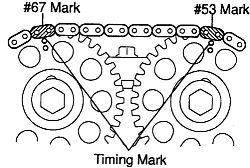 Toyota Matrix Toyota 1.8 liter timing chain alignment mar