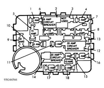 03 Mercury Sable Fuse Box Diagram 03 Lincoln Town Car Fuse