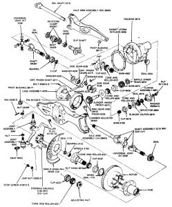 Wheel Bearing Replace Diagram: V8 Four Wheel Drive