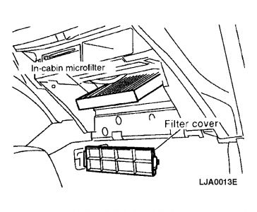 2002 Nissan Altima Cabin Air Filter Location: Air