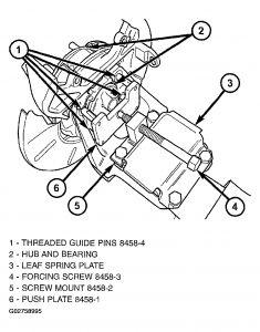 2002 Chrysler Grand Voyager Rear Wheel Bearing: for the