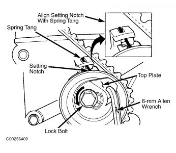 2005 Chrysler PT Cruiser Cam Alignment: Engine Mechanical