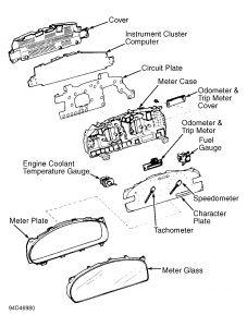 1995 Lexus ES 300 Dash Lights: the Left Side of My Dash
