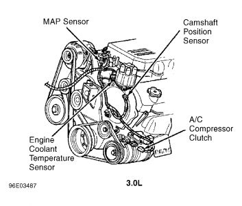1997 Chrysler Town and Country Water Temp. Sensor