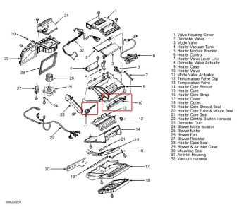 Chevy Cavalier Engine Diagram Heater Core Chevy Astro Van