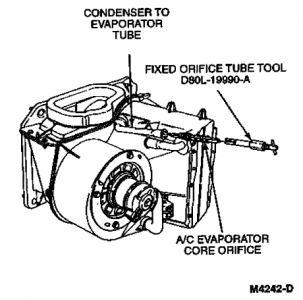 1991 Ford Explorer: Where Is Orifice Tube Located Picture