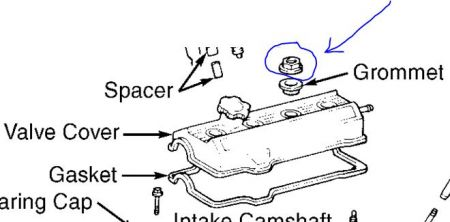 1996 Toyota Camry Valve Cover Gaskets: Engine Mechanical