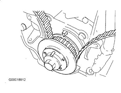 2001 Kia Rio Timing Mark Placement Cam and Crank