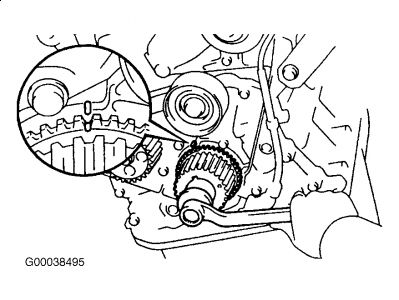 1998 Toyota Camry Lined Up Timing Belt: How Do You Line Up