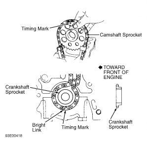 1986 Toyota 4Runner Timing Chain Alignment: Engine