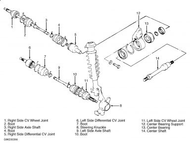 1995 Suzuki Esteem CV Half Shaft Replacement: Drive Train