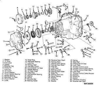 Honda Automatic Transmission Diagram, Honda, Free Engine