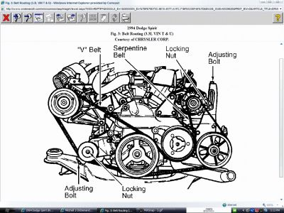 1994 Dodge Spirit Drive Belt Diagram: Other Category