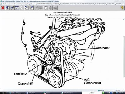 1994 Pontiac Grand Am Belt Routing Diagram: I Got the
