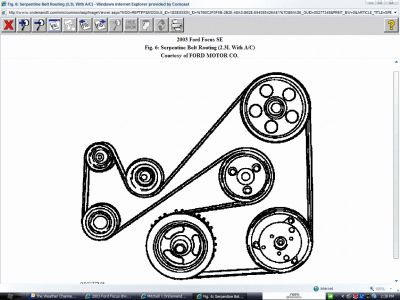 2003 Ford Focus Drive Belt Diagram: Other Category Problem
