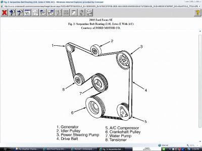Diagram: I Need a Diagram to Put the Serpentine Belt Back