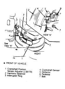 1988 LeSabre Crankshaft Sensor: on a 1988 Buick LeSabre