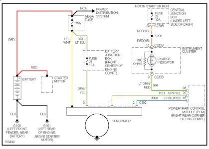 2001 ford taurus alternator wiring diagram 1957 chevy 210