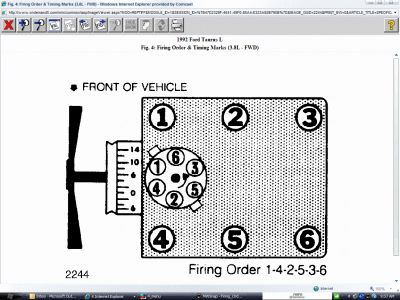 2002 Ford taurus firing order spark plugs
