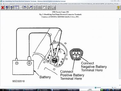 1986 Toyota Camry Fuel Pump Location: Other Category