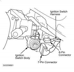 1997 Honda Accord Locked Steering Column: Steering Problem