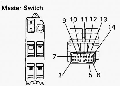 Forester: The Power Window Switch..wiring Harness