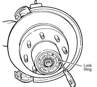 Wheel Bearing Replace Diagram: V8 Four Wheel Drive