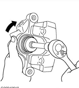 2004 Mazda 3 Attaching the Brake Pad with the Clips to The