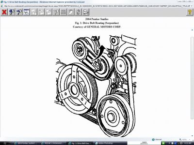 2004 Pontiac Sunbird Serpentine Belt Routing: Need Diagram
