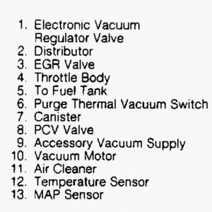 1992 Isuzu Rodeo Question PCV Valve Location: on the Left