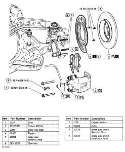 Removing Rear Brake Rotors: 4 Cyl All Wheel Drive
