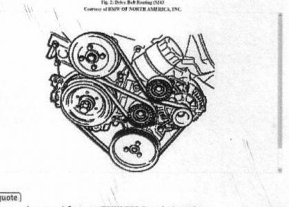 1994 BMW 318 Serpentine Belt: Engine Mechanical Problem