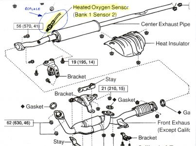 1999 toyota camry exhaust system diagram wiring for a car stereo amp and subwoofer oxygen sensor light my son drives this http www 2carpros com forum automotive pictures 89255 o2 1