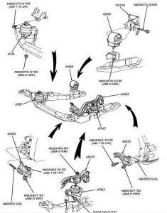 96 Ford motor mount taurus