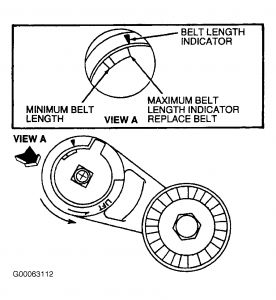 1996 Ford Taurus Tensioner Pulley Adjustment: Engine