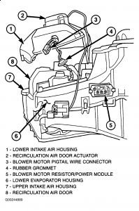 2001 Dodge Caravan: Heater Motor Works Intermittently