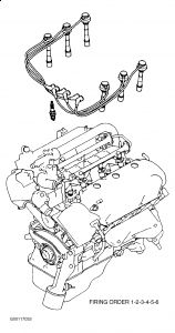 2002 Mitsubishi Montero Firing Order for Spark Plugs