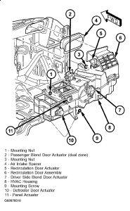 2003 Dodge Ram AC/Heater Control: AC/heater Control Does