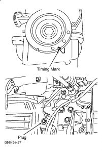 1998 Ford Contour Timing Belt Marks: 1998 Ford Contour