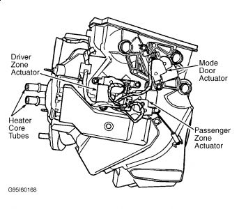 2000 Chrysler Town And Country Blend Door Actuator