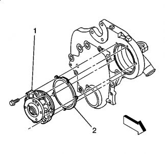 Water Pump: Six Cylinder Front Wheel Drive Automatic