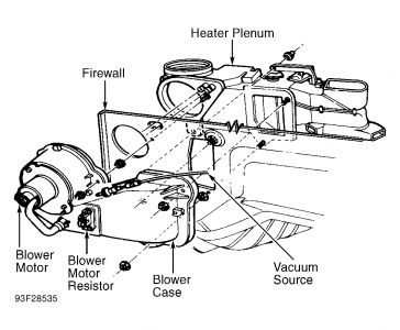 1994 Ford Ranger Blower Fan: My Heater Fan Only Works on