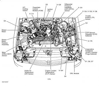 2002 Mazda Tribute Engine Cover, 2002, Free Engine Image