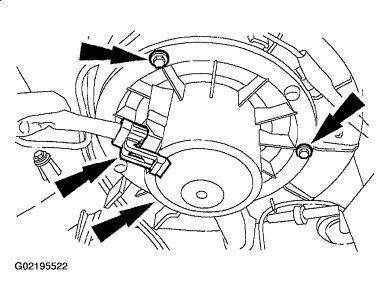 2002 Mercury Mountaineer BLOWER: CHANGE BLOWER MOTOR