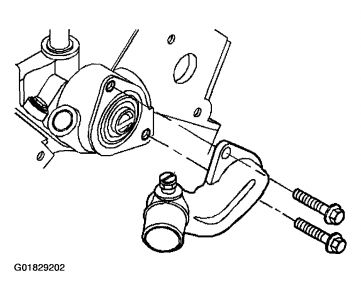 Thermostat Replacement: Six Cylinder Front Wheel Drive Automatic.