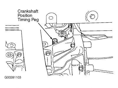 2000 Ford Escort Timing Belt Marks: Engine Mechanical